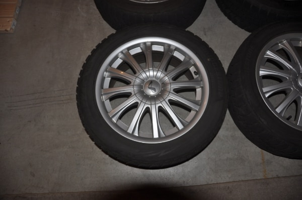 Price Reduced! - Now $250! - 4 Used Wheels with Bridgestone Blizzak Winter Tires WS80 - SIZE: 225/50R17 along with locking lug nuts to use with them 4e05aa20-9f94-45c9-b531-60a1ce717d1a