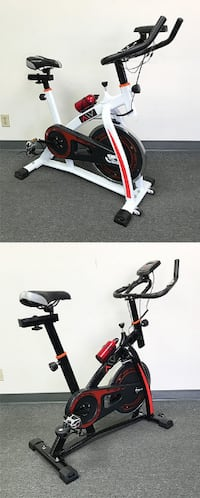 New $150 each Exercise Bike Fitness Indoor Cycling Stationary Bicycle Cardio Workout (Black or White) South El Monte