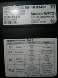 Wireless service ztE wifi voicemail