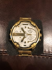 Big men's watch for sale. Gold design