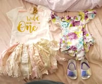 18-24 months girl clothes, shoes size 4 ,bibs, bows, bathing suits Brunswick, 21716