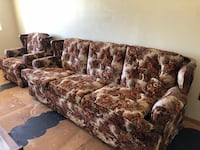 brown and green floral fabric 3-seat sofa Prescott Valley, 86314