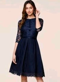 Vintage Cocktail Party Lace Pleated Swing Dress   Toronto