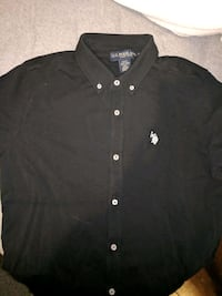 Black Button-up Polo shirt Size XL mens(fits L) Brampton