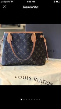 black Louis Vuitton leather tote bag Bristow, 20136