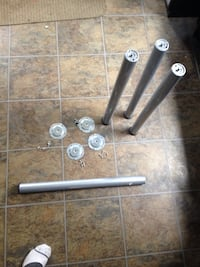 "Legs with mounting brackets and hardware.27"" tall great for a table desk etc Oakville, L6H"