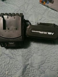 black Chicago Electric power tool battery and charger