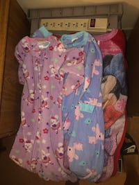 baby's blue and pink footie pajama Athens, 30606