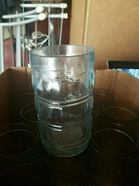 Glass cups small about 10oz Ashburn