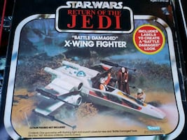 1982 KENNER STAR WARS BATTLE DAMAGE X WING FIGHTER