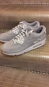 Pair of gray nike air max shoes Vancouver, V5R 1W2