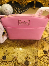 women's pink Coach leather wristlet Burnside Heights, 3023