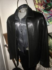 Men's leather jacket size 46. The leather feels like kid leather Sebring, 33870
