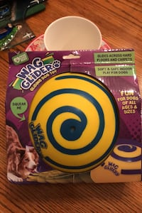 """Janet""Sells for $19.99! NEW ""Wag Glider""Gliding dog toy- floor safe!"