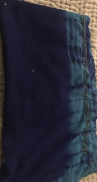 Blue  and Tile Saree with blouse
