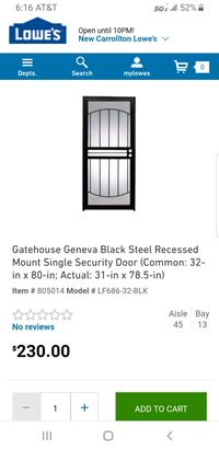 black and gray metal framed glass door Hyattsville, 20785