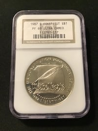 NGC MS69 200th Anniversary of Constitution Silver Coin