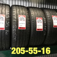 4 used tires 205/55/16 Continental