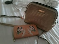 brown and white leather crossbody bag Albuquerque, 87121