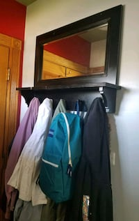 Wood hanging Coat rack with attach mirror Chicago, 60652