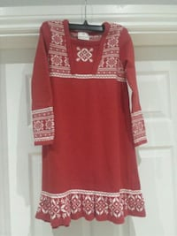 red and white floral long-sleeved dress Toronto, M8W 1Y3