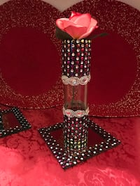 Multi color bling small tube vase  Greer