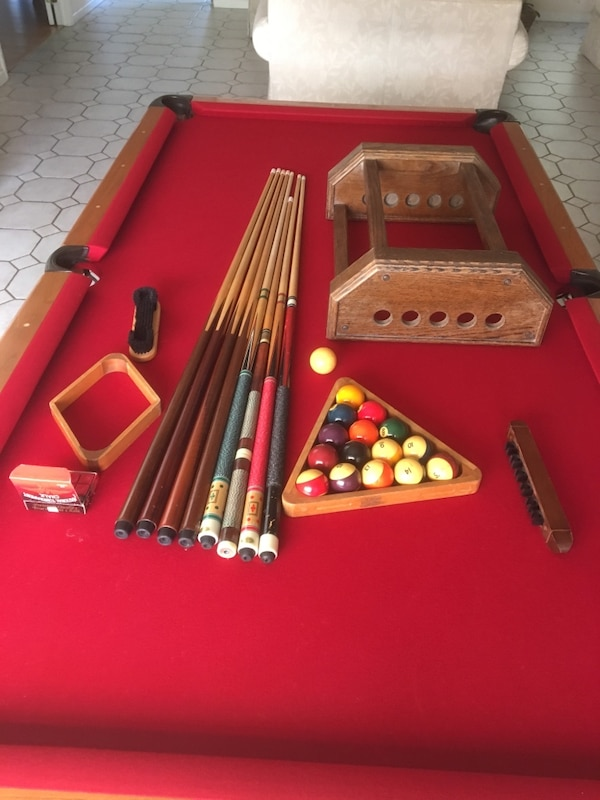 Used REDUCED AMF Playmaster Pool Table With Accessories For Sale In - Playmaster pool table