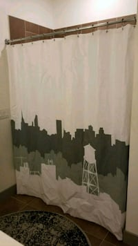 Limited edition NYC shower curtain with pole/hooks