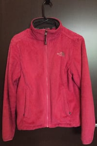 Pink North Face jacket, size S