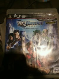 DC Universe PS3 game case