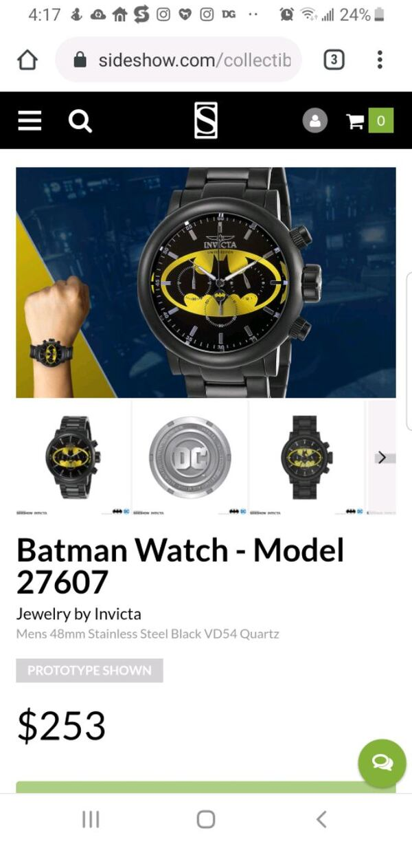 Limited Edition Invicta DC Batman Chronograph Watc 1