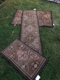 brown and black floral area rug Fresno, 93728