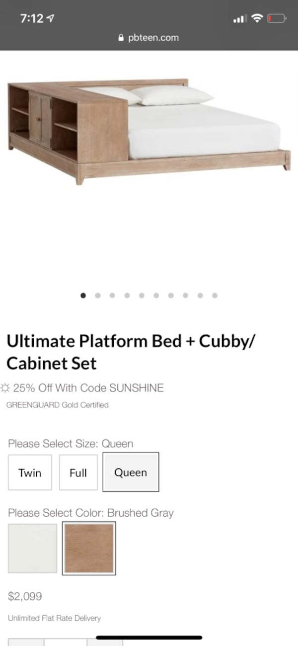 Ultimate Platform Bed Plus Cubby/ Cabinet Set 3ade58de-bc20-4576-bf31-1a1d378d51f0