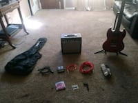 Guitar with amp and alot of accessories Denver, 80222