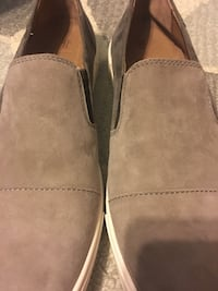 pair of gray suede slip-on shoes Rockville, 20853