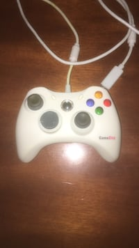 white GameShop corded game controller