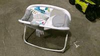 baby's white and gray bouncer Laurel, 20724