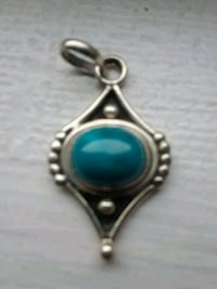 Genuine Turquoise Sterling Silver pendant
