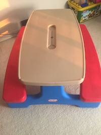 white and red Little Tikes plastic table Kitchener, N2G 4Z6