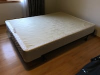 Double bed box spring and metal fram Calgary, T2M 4H9