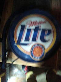 miller lite blue and white neon light signage