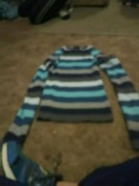 blue and black striped sweater Thermopolis, 82443