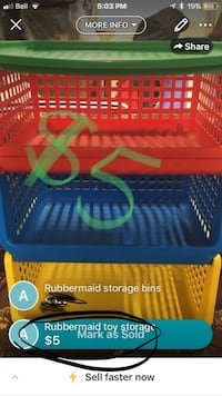 Rubbermaid toy storage Trenton, K8V 4H7