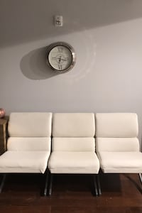 White leather chairs