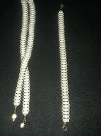 white and brown beaded necklace Indio, 92201