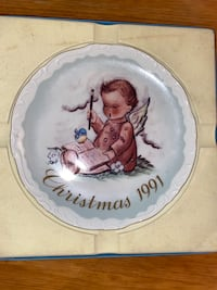 """Schmid """"A Message From Above"""" Collector's plate, Christmas 1991 LimEd Bunker Hill, 25413"""