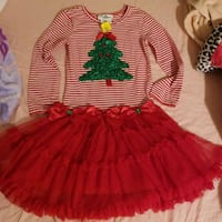 Rare Editions Girls Christmas Dress  Ceres
