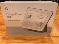 Google Home Hub with Built-in Google assistance Charcoal Black Edison, 08817