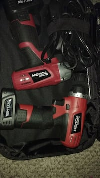 red and black Black & Decker cordless hand drill Calgary, T2A 4K3