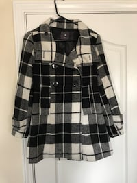 black and white plaid button-up jacket Easley, 29642